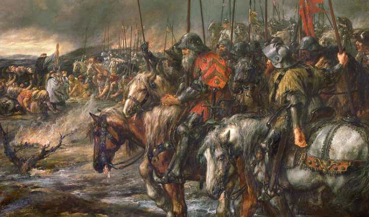 Morning of the Battle of Agincourt 25 October 1415